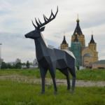 На Стрелке появился символ Нижнего Новгорода